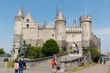 Het Steen  a Medieval Fortress in Antwerp  Belgium  Europe