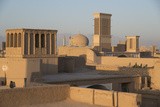Old City Skyline with Bagdirs Windtowers  Yazd  Iran  Western Asia