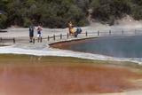 Tourists at the Champagne Pool  New Zealand