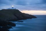 Strumble Head Lighthouse at Dusk  Pembrokeshire Coast National Park  Wales  United Kingdom  Europe