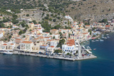 View over the Picturesque Waterfront  Dodecanese Islands