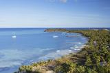 View of Mana Island  Mamanuca Islands  Fiji  South Pacific  Pacific