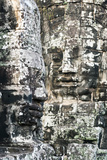 Giant Heads at the Bayon Temple  Angkor  Siem Reap  Cambodia  Indochina