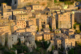 View of Sorano Seen from Etruscan Rock Settlement of San Rocco  Maremma  Grosseto  Tuscany  Italy