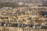 View over New Town Rooftops from Calton Hill  Edinburgh  City of Edinburgh  Scotland  UK