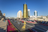 Twin Golden Conical Business Centres  Astana  Kazakhstan  Central Asia
