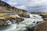 Wide Angle View of River at Foss a Sidu  South Iceland  Iceland  Polar Regions