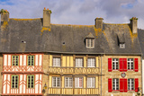 Half Timbered Houses  Old Town  Treguier  Cotes D'Armor  Brittany  France  Europe