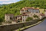Perched Medieval Village  Allier River  Auvergne  Haute Loire  France  Europe