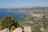 View of the Coastline and the Historic Town of Cassis from a Hilltop  France