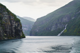 The Suitor Waterfall Lies Directly Opposite the Seven Sisters Waterfall  Geirangerfjord  Norway