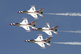 The US Air Force Thunderbirds Fly in Formation