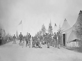 Military Camp with Soliders in Street During the American Civil War