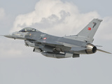 Turkish Air Force F-16 in Flight over Turkey