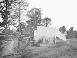 Camp Scene Showing Cook's Tent During the American Civil War