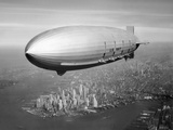 Uss Macon Airship Flying over New York City