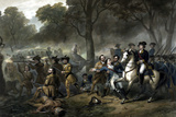 George Washington on Horseback Leading Troops at the Battle of the Monongahela