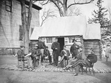 Officers at Headquarters of 6th Army Corps During the American Civil War