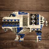 Bison on Wood
