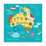 Animals World Map Australia