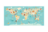 Animals World Map
