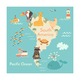 Animals World Map Sorth America