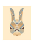 The Abstract Head of Rabbit Geometry Vector Illustration