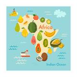 Fruit World Map Africa
