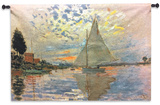 Monet: Sailboat Wall Tapestry - Small
