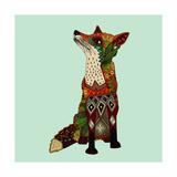 Fox Love Giclée premium par Sharon Turner