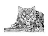 Snow Leopard (Variant 1) Giclée premium par Sharon Turner