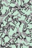 Woodland Fox Party (Variant 1) Reproduction d'art par Sharon Turner