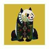 Sitting Panda Giclée premium par Sharon Turner