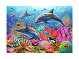 Dolphin Fun Reproduction d'art par Adrian Chesterman