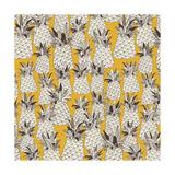 Pineapple Sunshine Yellow Giclée premium par Sharon Turner