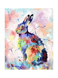 Abstract Hare Reproduction d'art par Sarah Stribbling