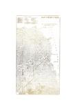 Gold Foil City Map San Francisco