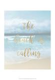 The Beach is Calling Reproduction d'art par Emily Robinson