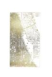 Gold Foil City Map Chicago