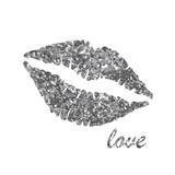 Glitter Lips Sq II
