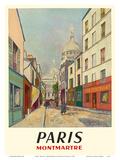 Paris  France - Butte Montmartre - Basilica of the Sacré-Cœur - Rue du Chevalier de la Barre