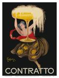 Contratto - Italian Sparkling Wine Champagne - Belle Époque Art Reproduction d'art par Leonetto Cappiello