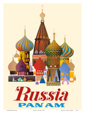 Russia - Pan American World Airways - Saint Basil's Cathedral  Moscow - Onion Domes