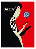 Bally Kick - Bally Shoes Reproduction d'art par Bernard Villemot