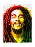 Bob Marley Reproduction d'art par Enrico Varrasso