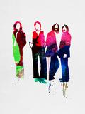 Beatles Watercolor Reproduction d'art par Lora Feldman