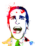 American Psycho Watercolor Reproduction d'art par Lora Feldman
