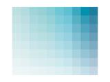 Bleu Vert Aqua - Spectre chromatique, rectangles Reproduction d'art par Kindred Sol Collective