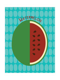 Watermelon Print Reproduction d'art