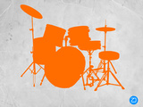 Orange Drum Set